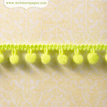 Websters Pages - New Beginnings Collection - Designer Ribbon - Green Pom Pom - 25 Yards