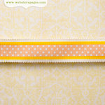 Websters Pages - New Beginnings Collection - Designer Ribbon - Orange and Pink Polka - 25 Yards