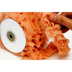 Websters Pages - Bloomers - Flower and Trim Ribbons - Peach - 7.5 Yards, CLEARANCE