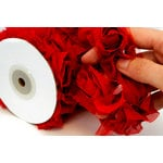 Websters Pages - Bloomers - Flower and Trim Ribbons - Berry - 7.5 Yards