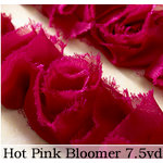 Websters Pages - Bloomers - Flower and Trim Ribbons - Pink - 7.5 Yards