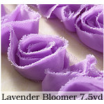 Websters Pages - Bloomers - Flower and Trim Ribbons - Lavender - 7.5 Yards