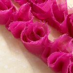 Websters Pages - Bloomers - Flower and Trim Ribbons - Poetry Pink - 7.5 Yards