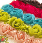 Websters Pages - Bloomers - Flower and Trim Ribbons - Assorted