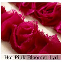 Websters Pages - Bloomers - Flower and Trim Ribbons - Pink