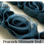Websters Pages - Bloomers - Flower and Trim Ribbons - Peacock