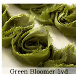 Websters Pages - Bloomers - Flower and Trim Ribbons - Green