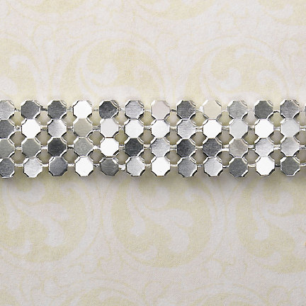 Websters Pages - Designer Ribbon - Silver Chain - 1.6 Yards