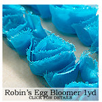Websters Pages - Bloomers - Flower and Trim Ribbons - Robin's Egg