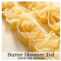 Websters Pages - Bloomers - Flower and Trim Ribbons - Butter