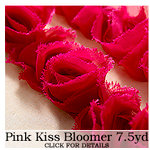 Websters Pages - Bloomers - Flower and Trim Ribbons - Kiss Pink - 7.5 Yards