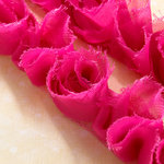 Websters Pages - Bloomers - Flower and Trim Ribbons - Poetry Pink