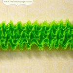 Websters Pages - Ruffled Bloomers - Flower and Trim Ribbons - Green - 25 Yards