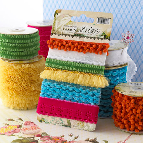 Websters Pages - Let's Celebrate Collection - Designer Trim and Ribbon