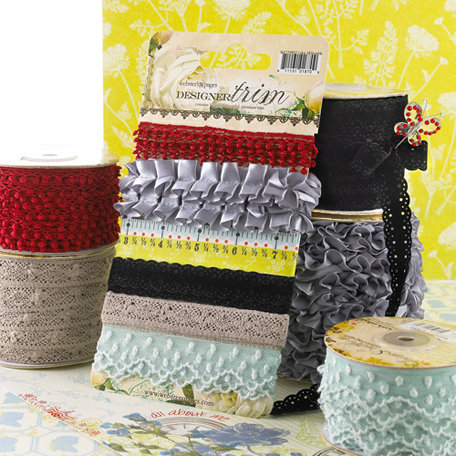 Websters Pages - All About Me Collection - Designer Trim and Ribbon