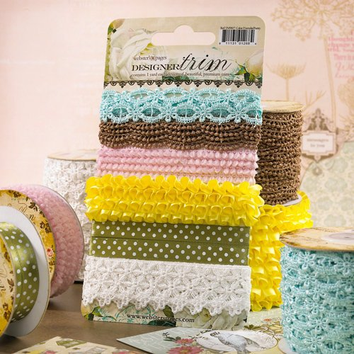 Websters Pages - Everyday Poetry Collection - Designer Trim and Ribbon