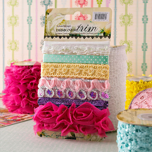 Websters Pages - Girl Land Collection - Designer Trim and Ribbon