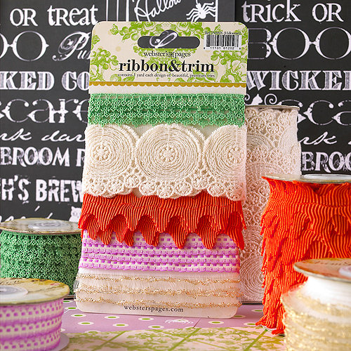 Websters Pages - Once Upon a Halloween Collection - Designer Trim and Ribbon