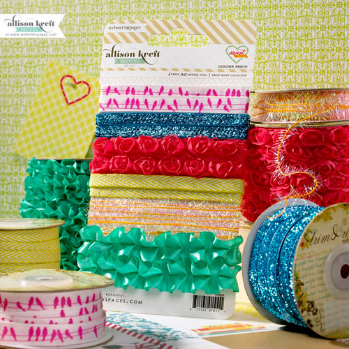 Websters Pages - Sweet Notes Collection - Designer Trim and Ribbon
