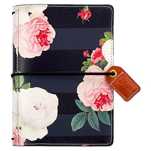 Websters Pages - Color Crush Collection - Pocket Traveler - Black Floral