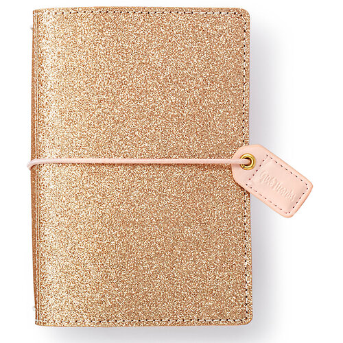 Websters Pages - Color Crush Collection - Pocket Traveler's Notebook Planner - Gold Glitter