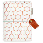 Websters Pages - Color Crush Collection - Pocket Traveler - Copper Hexagon