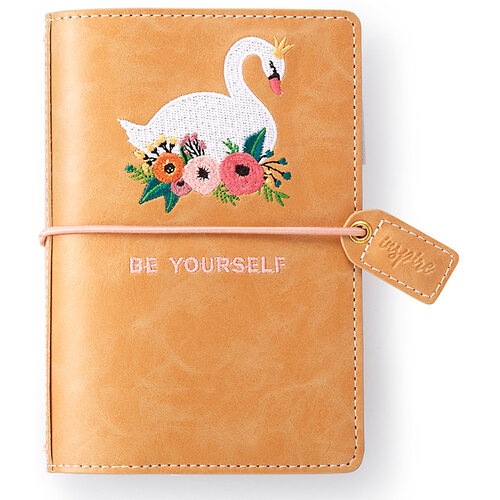 Websters Pages - Color Crush Collection - Pocket Traveler's Notebook Planner - Embroidered Swan