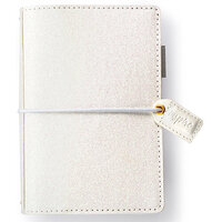 Websters Pages - Color Crush Collection - Pocket Traveler's Notebook Planner - White Glitter