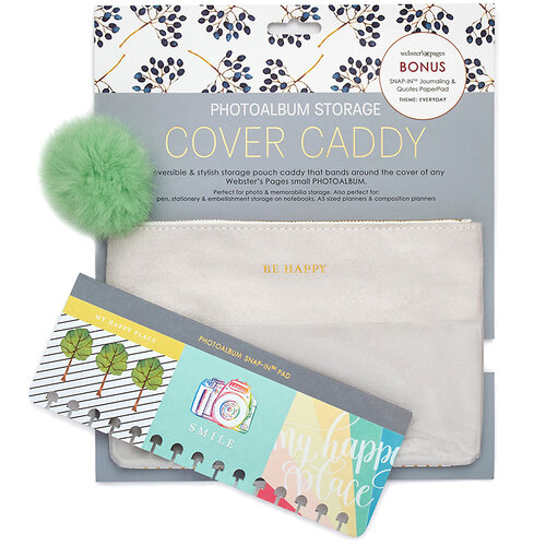 Websters Pages - Color Crush Collection - Small - Cover Caddy Photo Album Storage - Every Day Grey Polka
