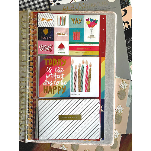Websters Pages - Color Crush Collection - Tall - Album Starter Kit - Celebrate