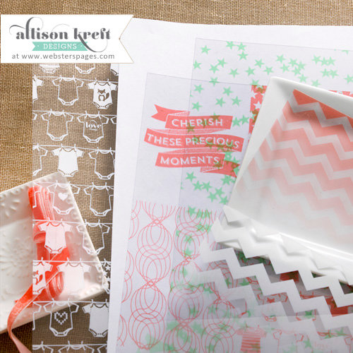 Websters Pages - Hello World Collection - 12 x 12 Transparency Starter Kit