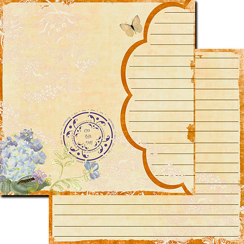 Websters Pages - Designer Calendars Collection - 12 x 12 Double Sided Paper - Reflections Calendar, BRAND NEW