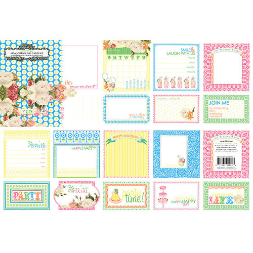 Websters Pages - Let's Celebrate Collection - Deluxe Journaling Cards