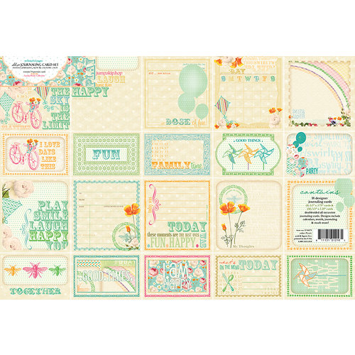 Websters Pages - Sunday Picnic Collection - Deluxe Journaling Cards