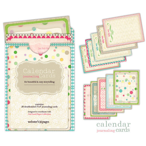 Websters Pages - Girl Land Collection - Calendar Cards