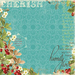Websters Pages - Sweet As Cherry Pie Collection - 12 x 12 Designer Vellum - Sweet as Cherry Pie