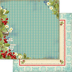 Websters Pages - Sweet As Cherry Pie Collection - 12 x 12 Double Sided Paper - Set the Table