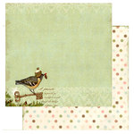 Websters Pages - Winter's Wings Collection - Christmas - 12 x 12 Double Sided Paper - My Promise, BRAND NEW