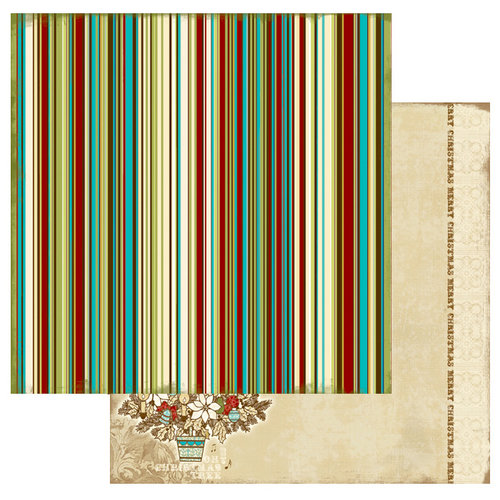 Websters Pages - Home for the Holidays Collection - Christmas - 12 x 12 Double Sided Paper - Oh Christmas Tree, BRAND NEW