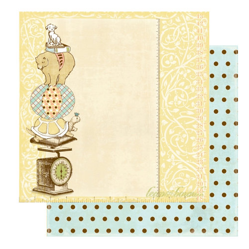 Websters Pages - Lullaby Lane Collection - 12 x 12 Double Sided Paper - Leaps and Bounds