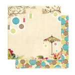 Websters Pages - Garden Gala Collection - 12 x 12 Double Sided Paper - Party Lights, CLEARANCE