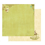 Websters Pages - Garden Gala Collection - 12 x 12 Double Sided Paper - Tea Time, CLEARANCE