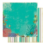 Websters Pages - Seaside Retreat Collection - 12 x 12 Double Sided Paper - Underwater Oasis, CLEARANCE