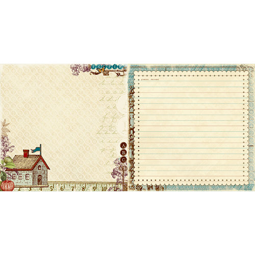 Websters Pages - WonderFall Collection - 12 x 12 Double Sided Paper - Back to School