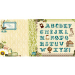 Websters Pages - WonderFall Collection - 12 x 12 Double Sided Paper - Learn your ABC's