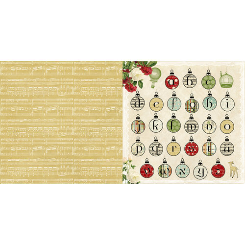 Websters Pages - Waiting for Santa Collection - Christmas - 12 x 12 Double Sided Paper - Fa-la-la