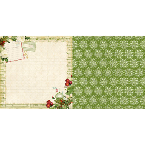 Websters Pages - Waiting for Santa Collection - Christmas - 12 x 12 Double Sided Paper - Making a List