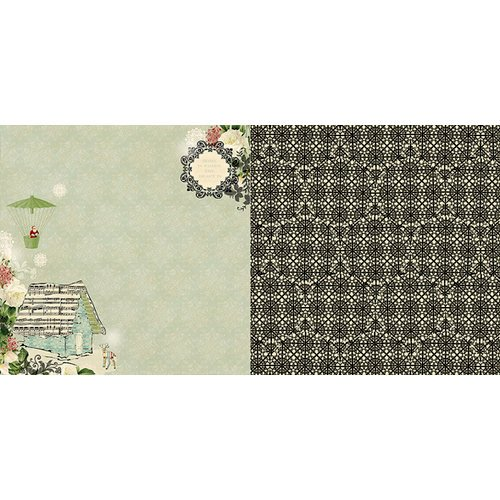 Websters Pages - Waiting for Santa Collection - Christmas - 12 x 12 Double Sided Paper - Reindeer Cottage