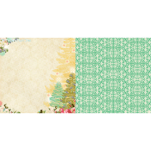 Websters Pages - Sweet Season Collection - Christmas - 12 x 12 Double Sided Paper - Sugar Plum Tree