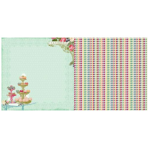 Websters Pages - Sweet Season Collection - Christmas - 12 x 12 Double Sided Paper - Tiny Treats